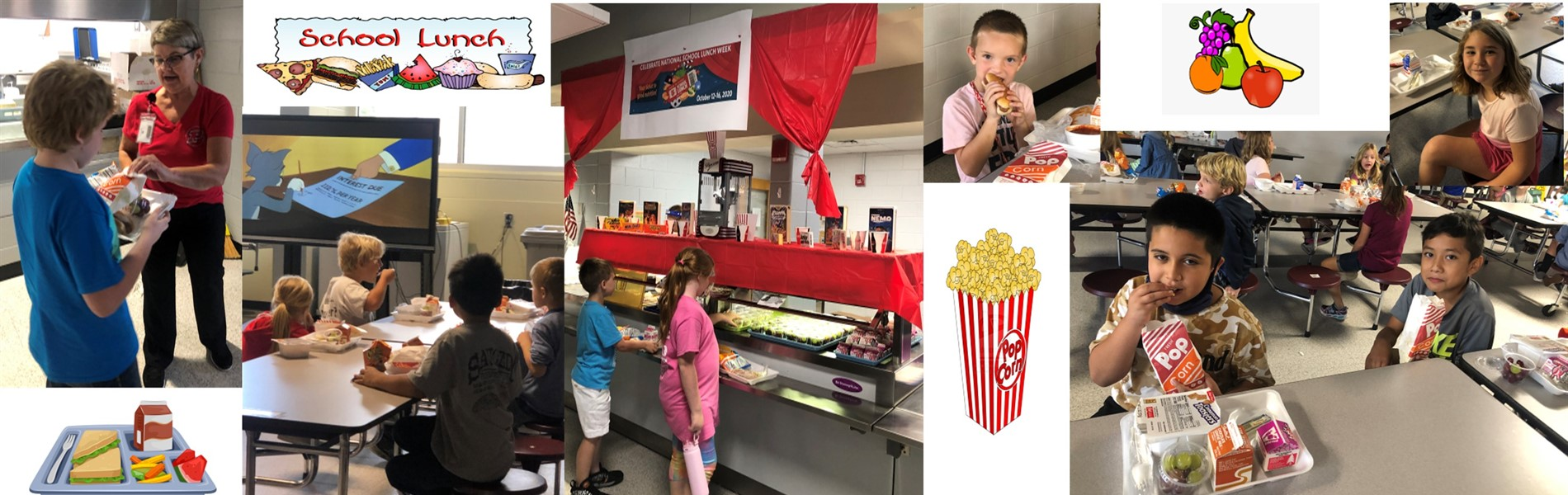 Movie and Popcorn Celebrating National School Lunch Week